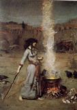 Waterhouse, John William: The Magic Circle. Mystical Fine Art Print/Poster. Sizes: A4/A3/A2/A1 (00834)